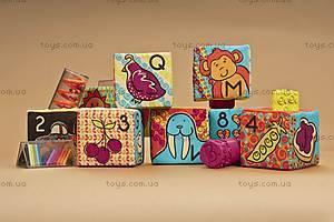 Развивающие мягкие кубики-сортеры, BX1147, toys.com.ua