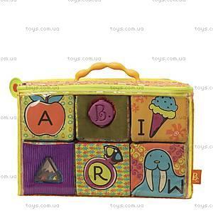 Развивающие мягкие кубики-сортеры «ABC», BX1368Z