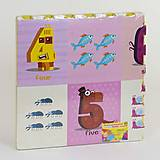 """Развивающий коврик-пазл """"Цифры английские"""" 4 шт в упаковке, C36624, фото"""