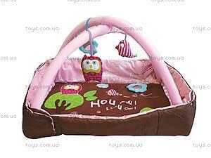 Развивающий коврик «Сова» с бортиками, розовый, 2875