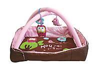 Развивающий коврик «Сова» с бортиками, розовый, 2875, купить