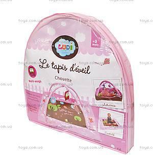Развивающий коврик «Сова» с бортиками, розовый, 2875, фото