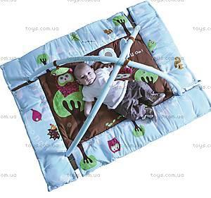 Развивающий коврик «Сова» с поднимающимися бортиками, 2873, игрушки