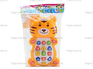 Детский развивающий телефон «Тигрёнок», 8303D, цена
