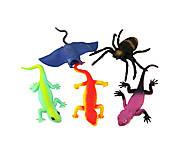Рептилии-тянучки, 5 видов, A052P, отзывы
