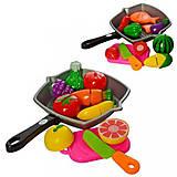 Резка овощей и фруктов со сковородкой и дощечкой (2 вида), 3016C, купить