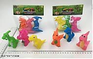 Резиновые пищалки «Динозаврики», AK68248-1, фото