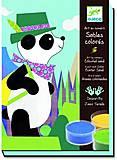 Рисование цветным песком «Панда и его друзья», DJ08630, опт
