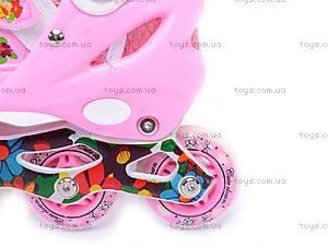 Ролики для девочек, розовые, F1-K17 34-37, купить