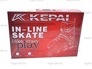 Ролики для начинающих, красные, F1-K06 30-33, детские игрушки