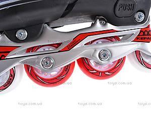 Ролики с металлической рамой, красные, F1-K06 34-37, фото