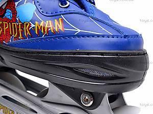 Ролики Spider Man, с регулируемым размером, E02871, магазин игрушек