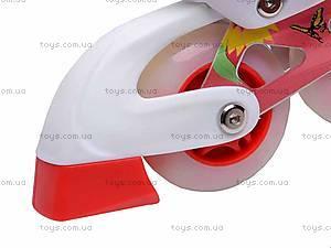 Роликовые коньки для девочки, с изменяемым размером, E02855, игрушки