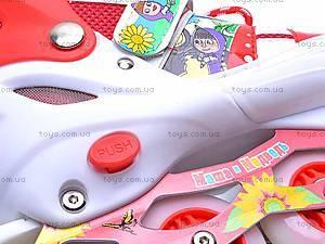 Роликовые коньки для девочки, с изменяемым размером, E02855, toys