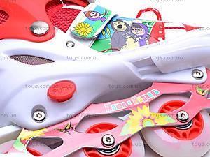 Роликовые коньки для девочки, с изменяемым размером, E02855, іграшки