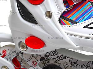 Роликовые коньки 31-34 размер, ST 9005  466-586 S КРАСН, фото