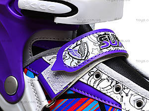 Роликовые коньки подростковые, 39-42 размер, ST 9005  466-586 L ФИОЛ, фото