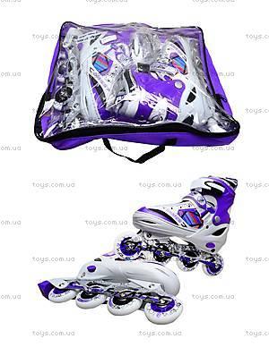 Роликовые коньки подростковые, 39-42 размер, ST 9005  466-586 L ФИОЛ