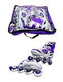 Роликовые коньки подростковые, 39-42 размер, ST 9005  466-586 L ФИОЛ, отзывы