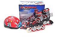 Ролики раздвижные 30-33 размер KEPAI, красные, F1-S2S, купити