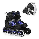Ролики раздвижные «Best Rollers» размер 35-38 черный, 9015, игрушка