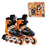 Ролики размер 38-41 оранжево-черные, A25521, набор