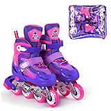 """Ролики с подсветкой """"Best Roller"""" S фиолетовый (10033-S), 10033-S, игрушки"""