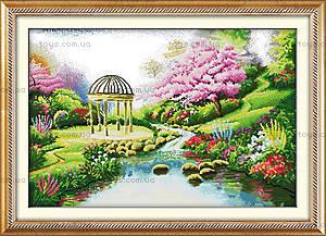 Романтичный сад, вышивка крестиком, F119