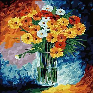 Ромашки, картина раскраска по номерам, КНО2021