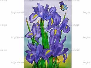 Роспись по холсту «Цветы ирисы», 7113, фото