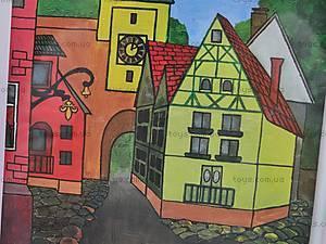 Роспись по холсту «Город», 9771, фото