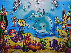 Роспись по холсту «Подводный мир», 7115, цена