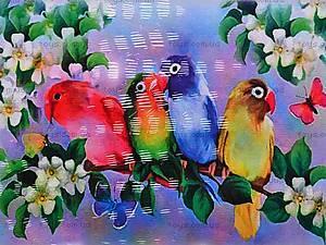 Роспись по холсту «Попугайчик», 7116, купить