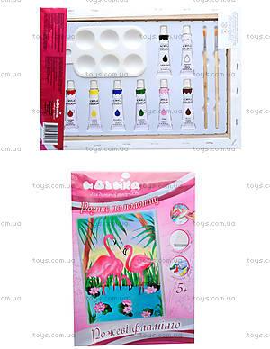 Набор для росписи по холсту «Розовые фламинго», 7125