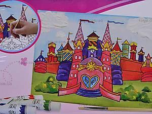 Роспись по холсту «Сказочный замок», 33711, фото