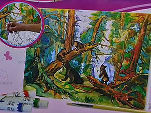 Роспись по холсту «В лесу», 30843, цена