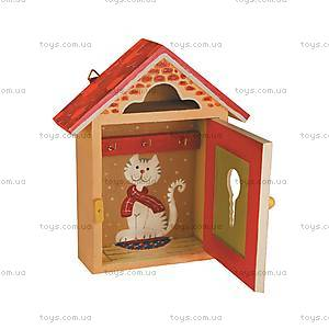 Роспись ключницы своими руками «Домик для кошечки», 94225, цена