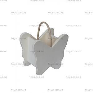 Роспись по дереву «Корзинка с бабочкой», LY07-477 S/3, купить
