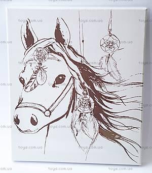 Роспись по холсту «Дикая лошадь», 60819, фото