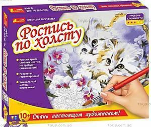 Роспись по холсту «Котик», 15129001Р
