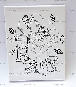Роспись по холсту «Лесные друзья», 60817, купить