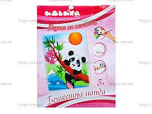 Роспись по холсту «Озорная панда», 71301, фото
