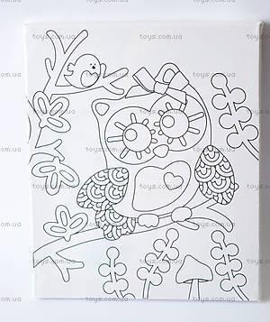 Детская роспись по холсту «Совушка», 57395, купить