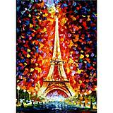 Роспись по номерам «Эйфелева башня в огнях», КН076, фото