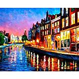 Роспись по номерам «Вечерний Амстердам», КН2142, купить