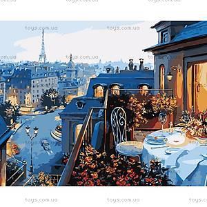 Роспись по номерам «Вид на Париж», КН1107