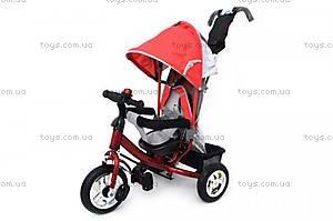 Трехколесный велосипед с крышей «Ровер», красный, QAT-T017