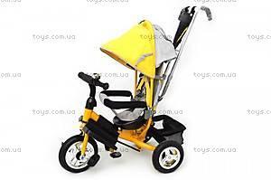 Велосипед трехколесный с козырьком «Ровер», золотистый, QAT-T017