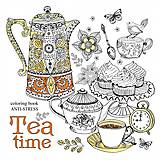 "Раскраска-антистрес ""Tea Time"" 12 листов, 1748, фото"