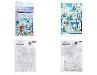 Раскраска с наклейками серии «Фрозен», 5931-04, купить